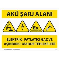 TAROKS - Akü Sarj Alanı Uyarı Levhası U10130