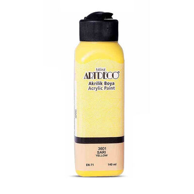 Artdeco Akrilik Boya 140 ml Y-070R-3601 Sarı