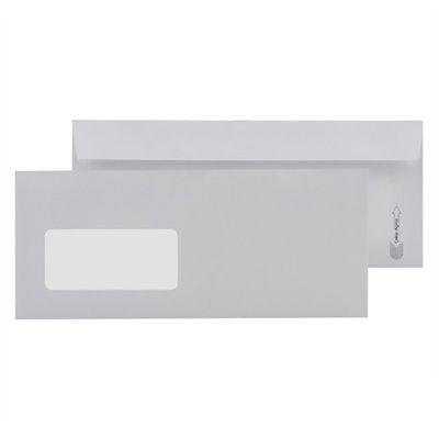 Asil Diplomat Zarf 10,5x24 Beyaz 110 gr Pencereli 25'li 11004