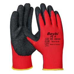BEYBI - Beybi Nitril Eldiven Poly Pl9 Kırmızı/Siyah No:10 XL