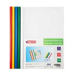 BIGPOINT - Bigpoint Rapor Dosyası 11 mm A4 5 Renk Karışık BP277-00