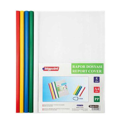 Bigpoint Rapor Dosyası 11 mm A4 5 Renk Karışık BP277-00