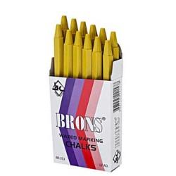 BRONS - Brons Yağlı Marka Tebeşiri Sarı 12'li