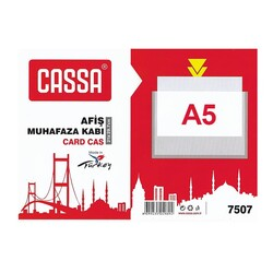 CASSA - Cassa Afiş Muhafaza Kabı A5 Şeffaf 7508