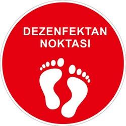 TAROKS - Dezenfektan Noktası Yer Etiketi Kırmızı 30 cm U21073