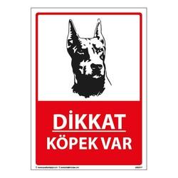 TAROKS - Dikkat Köpek Var Uyarı Levhası 25X35 3mm
