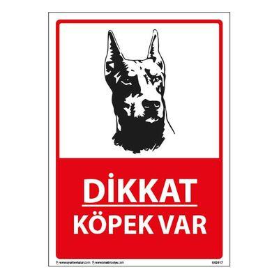 Dikkat Köpek Var Uyarı Levhası 25X35 3mm