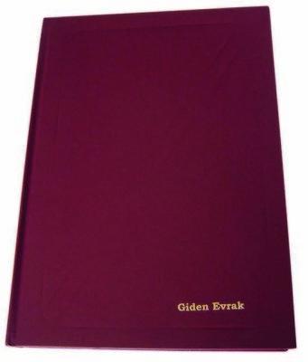 Dilman Giden Evrak Kayıt Defteri 96 Yaprak