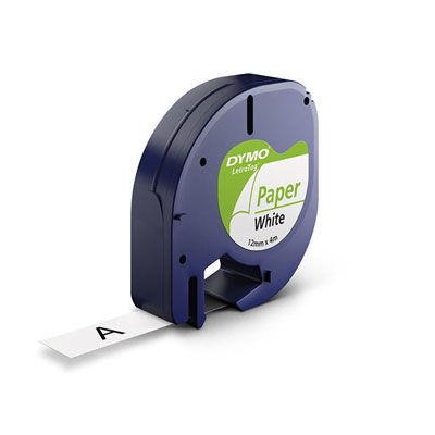 Dymo Şerit Let. Kağıt Beyaz 12 mm X 4 m 721510 59421