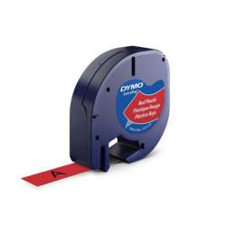 DYMO - Dymo Şerit Let. Plastik Kırmızı 12 mm X 4 m 721630 59424