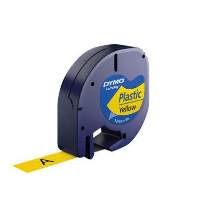 Dymo Şerit Let. Plastik Sarı 12 mm X 4 m 721620 59423