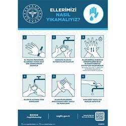 TAROKS - Ellerimizi Nasıl Yıkamalıyız Uyarı Levhası U10092