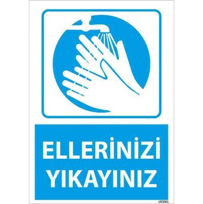 Ellerinizi Yıkayınız Uyarı Levhası U03061