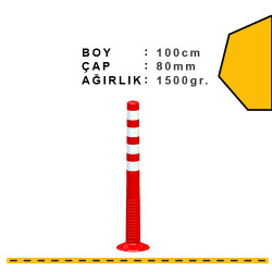 ÜSTÜN A.Ş. - Esnek Şerit Ayırıcı Delinatör 1000mm, X Ø:80 Tr2513