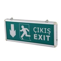 TAROKS - Acil Çıkış Armatürü Ledli Exit Çıkış Aşağı CT-9167