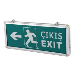 TAROKS - Acil Çıkış Armatürü Ledli Çıkış Exit Sağ Sol CT-9170