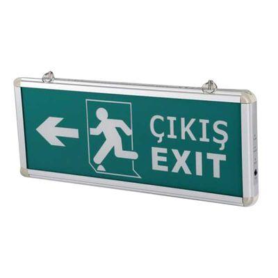 Acil Çıkış Armatürü Ledli Çıkış Exit Sağ Sol CT-9170