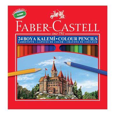 Faber Castell Kuru Boya Red Line Karton Kutu Tam Boy 24 lü