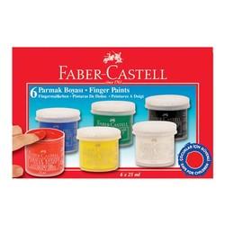 FABER CASTELL - Faber Castell Parmak Boyası 6 Renk 5170160402