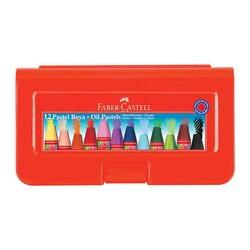 FABER CASTELL - Faber Castell Pastel Boya Çantalı Köşeli 12 Renk