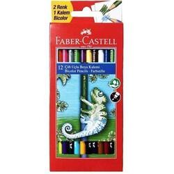 FABER CASTELL - Faber Castell Yerli Çiift Uçlu Boya Kalemi 12 Li