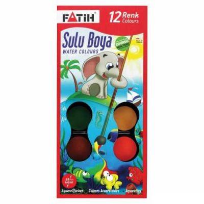 Fatih K-12 Sulu Boya 12 Renk 33 mm