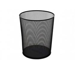 GLOBOX - Globox Çöp Kovası Metal Perfore Siyah