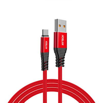 Hytech HY-X410 3A Type-C 1m Kırmızı Data + Şarj Kablosu