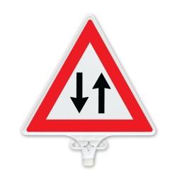 ÜSTÜN A.Ş. - İki Yönlü Trafik Uyarı Levhası Çift Yön Tr2804