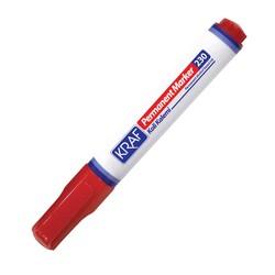 KRAF - Kraf Permanent Kalem Kesik Uç 230 Kırmızı