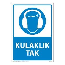 TAROKS - Kulaklık Tak Uyarı Levhası 25X35 3mm U03030