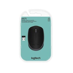 LOGITECH - Logitech M171 Wireless Black Mouse 910-004424