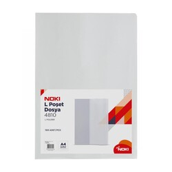 NOKI - Noki L Poşet Dosya Şeffaf A4 100'Lü 4810-110