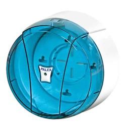 PALEX - Palex Tuvalet Kağıdı Dispenseri İçten Çekmeli Mini Şeffaf Mavi 3442-1