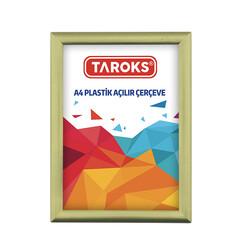 TAROKS - Plastik Açılır Çerçeve A4 Altın