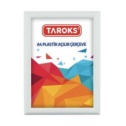 TAROKS - Plastik Açılır Çerçeve A4 Beyaz