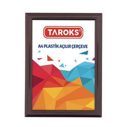TAROKS - Plastik Açılır Çerçeve A4 Kahverengi