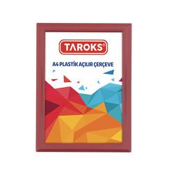 TAROKS - Plastik Açılır Çerçeve A4 Kırmızı