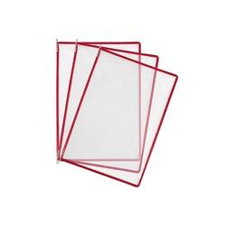 HİPAŞ - Plastik Şömiz Yaprağı A4 Kırmızı