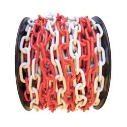 ÜSTÜN A.Ş. - Plastik Trafik Zinciri Kırmızı-Beyaz 8mm Tr3110