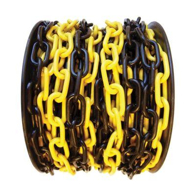 Plastik Trafik Zinciri Sarı-Siyah 8mm Tr3111