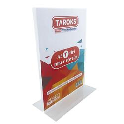 TAROKS - Taroks Föylük A5 Dikey T Tipi Çift Taraflı Pleksi