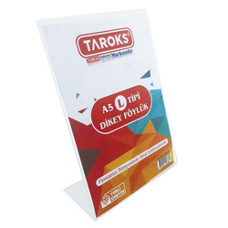 TAROKS - Taroks Föylük A5 Dikey L Tipi Pleksi