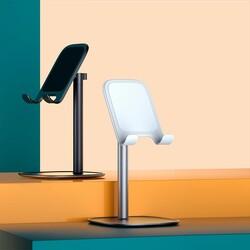 Rock Masaüstü Teleskopik Telefon Standı Beyaz - Thumbnail