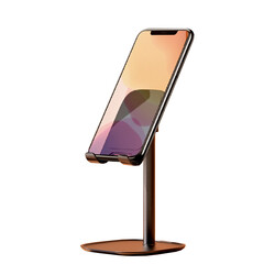 Rock Masaüstü Teleskopik Telefon Standı Siyah