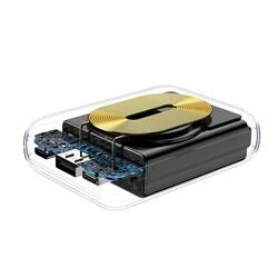 Rock P51 Powerbank Kablosuz Şarjlı 10.000 mah. Siyah - Thumbnail