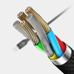 Rock Şarj Kablosu 2.1 A Lightning Siyah 1 m - Thumbnail