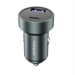 Rock Space Dijital Ekranlı Hızlı Araç Şarj Cihazı C300 36W