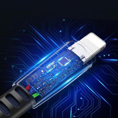 Rock Space Hızlı Şarj Kablosu Lightning M2 Çinko Alaşım 120 cm Siyah