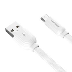Rock Space S5 Şarj Kablosu Lightning 5V/2.4A 1 m Beyaz